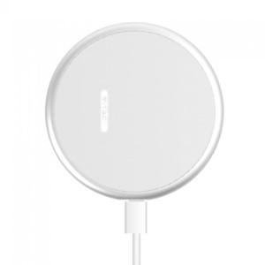 Ασύρματος Στρογγυλός Φορτιστής Pad Qi Γρήγορης Φόρτισης 10W Λευκός V-TAC 7709
