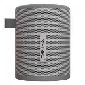 Φορητό Μίνι Ηχείο Bluetooth 5W Γκρί για TF Κάρτα και Ενσωματωμένο Μικρόφωνο V-Tac 7720