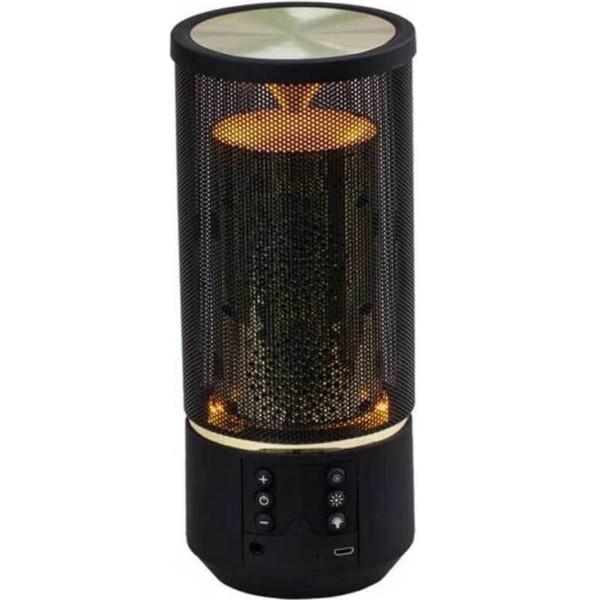 LED Φορητό Ηχείο Bluetooth 2X3W Μαύρο με εφέ φλόγας και με υποδοχή AUX και TF (TWS) 1200mAh V-Tac 7724