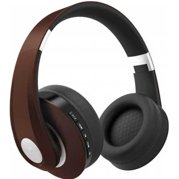 Ασύρματα Ακουστικά Ρυθμιζόμενα Bluetooth Κεφαλής 500mAh Καφέ V-TAC 7732