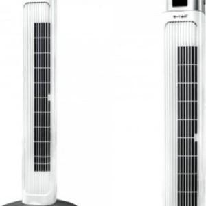 """Ανεμιστήρας Πύργος Δαπέδου V-TAC 36"""" ( 90cm ) 55W με Οθόνη και Χειριστήριο Λευκός"""