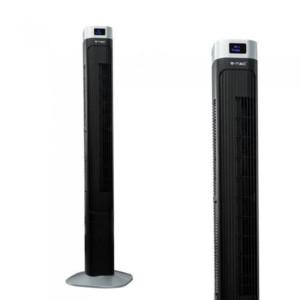 """Ανεμιστήρας Πύργος Δαπέδου V-TAC 7901 46"""" ( 110cm ) 55W με Οθόνη και Χειριστήριο Μαύρος"""