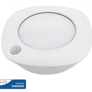 LED Samsung Chip Φωτιστικό Στρογγυλό Λευκό με Ανιχνευτή Κίνησης & Μπαταρίες 1.5W 4000K V-TAC 813