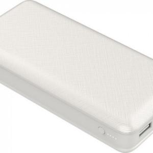 Powerbank 20000mAh με Οθόνη και 2 Θύρες USB Λευκό Σώμα V-TAC 8189