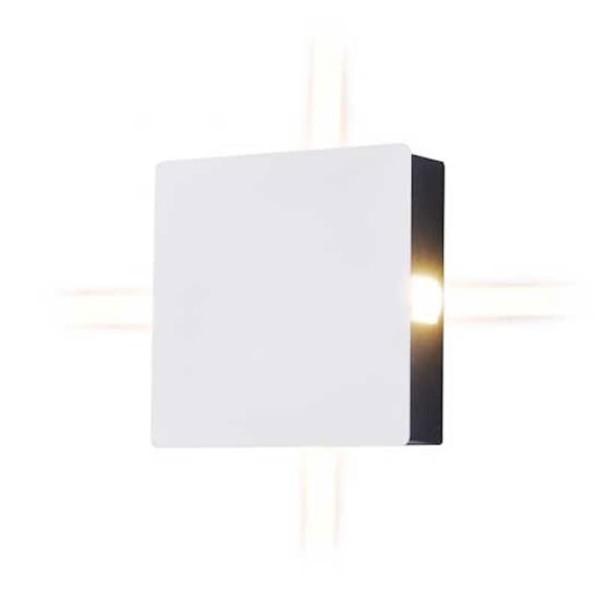 Φωτιστικό Απλίκα Τοίχου Λευκή Τετράγωνη IP65 4W V-Tac 8209 με Θερμό Λευκό 3000Κ 4x60°