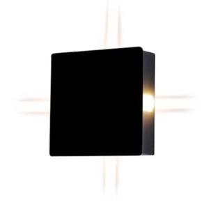 Φωτιστικό Απλίκα Τοίχου Μαύρη Τετράγωνη IP65 4W V-Tac 8211 με Θερμό Λευκό 3000Κ 4x60°