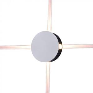 Φωτιστικό Απλίκα Τοίχου Λευκή Στρογγυλή IP65 4W V-Tac 8213 με Θερμό Λευκό 3000Κ 4x60°