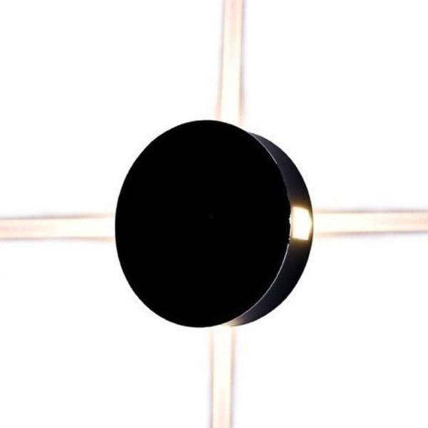 Φωτιστικό Απλίκα Τοίχου Μαύρη Στρογγυλή IP65 4W V-Tac 8215 με Θερμό Λευκό 3000Κ 4x60°