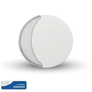 LED Samsung Chip Φωτιστικό Νυκτός Στρογγυλό Λευκό με Αισθητήρα Νύχτας-Μέρας 0.5W 10lm Θερμό Λευκό 3000K V-TAC 824