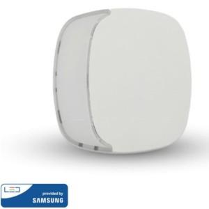 LED Samsung Chip Φωτιστικό Νυκτός Τετράγωνο Λευκό με Αισθητήρα Νύχτας-Μέρας 0.5W Θερμό Λευκό 3000K V-TAC 826