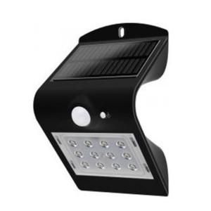 LED Ηλιακό Φωτιστικό 1.5 W Sensor Στεγανό IP65 Μαύρο V-TAC 8277
