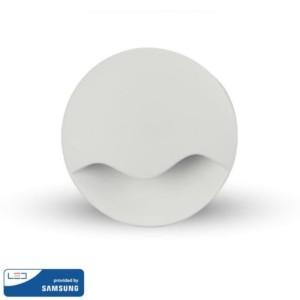LED Samsung Chip Φωτιστικό Νυκτός Στρογγυλό Λευκό με Αισθητήρα Νύχτας-Μέρας 0.5W Θερμό Λευκό 3000K V-TAC 828