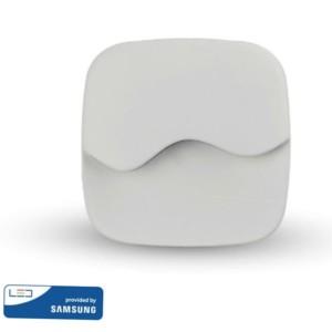 LED Samsung Chip Φωτιστικό Νυκτός Τετράγωνο Λευκό με Αισθητήρα Νύχτας-Μέρας 0.5W Θερμό Λευκό 3000K V-TAC 830