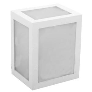 Φωτιστικό Απλίκα Τοίχου Λευκή IP65 12W V-Tac 8334 με Θερμό Λευκό 3000Κ