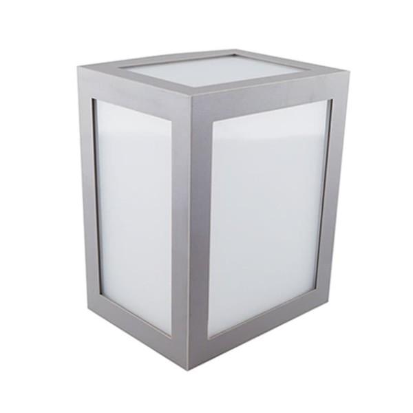 Φωτιστικό Απλίκα Τοίχου Γκρι IP65 12W V-Tac 8337 με Θερμό Λευκό 3000Κ