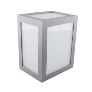 Φωτιστικό Απλίκα Τοίχου Γκρι IP65 12W V-Tac 8338 με Ουδέτερο Λευκό 4000Κ