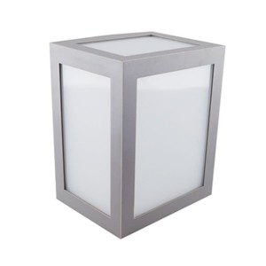 25508339-549-Φωτιστικό Απλίκα Τοίχου Γκρι IP65 12W V-Tac 8339 με Ψυχρό Λευκό 6400Κ