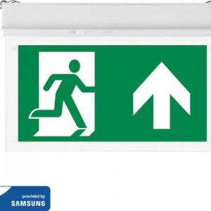 Φωτιστικό Ασφαλείας 2W Χωνευτό Οροφής Samsung Chip 6400K-Ψυχρό Λευκό V-TAC 835