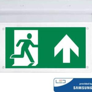 Φωτιστικό Ασφαλείας 2W Οροφής/Τοίχου Samsung Chip 6400K-Ψυχρό Λευκό V-TAC 836