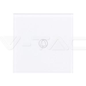 Μπουτόν Γυάλινο Αφής Απλό Λευκό V-TAC SKU: 8372