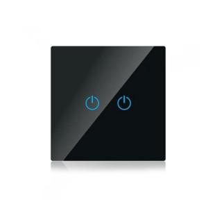 Διακόπτης Αφής Διπλός Μαύρος V-TAC SKU: 8387