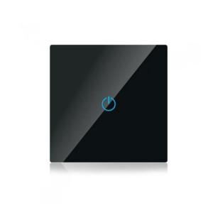 Διακόπτης Αφής Γυάλινος Μονός Αλέ-Ρετούρ Μαύρος V-TAC SKU: 8389