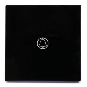 Μπουτόν Αφής Γυάλινο Απλό Μαύρο V-TAC SKU: 8397