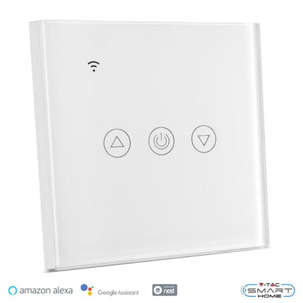 WiFi Dimmer Αφής Γυαλί Λευκό Συμβατό με Amazon Alexa & Google Home V-Tac 8433