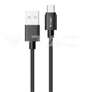 Καλώδιο Micro USB 1M Σειρά Pearl 1.0A Μαύρο V-Tac 8481