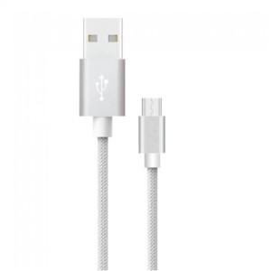 Καλώδιο Micro USB 1M Σειρά Platinum 2.4A Γκρί V-Tac 8489
