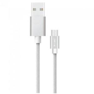 Καλώδιο Type C USB 1M Σειρά Platinum 2.4A Γκρί V-Tac 8492