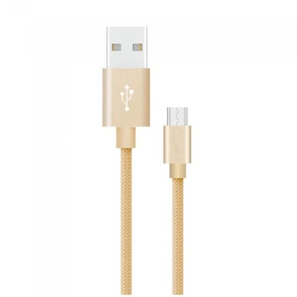 Καλώδιο Type C USB 1M Σειρά Platinum 2.4A Χρυσό V-Tac 8493