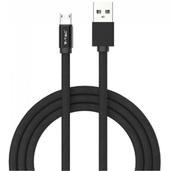 Καλώδιο Φόρτισης Ruby Series 1m 2.4A Micro USB Μαύρο V-TAC 8494
