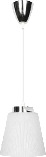 Κρεμαστό Φωτιστικό Μεταλλικό-Λευκό Καπέλο V-TAC 8505