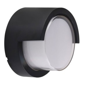 Απλίκα LED Στεγανή IP65 Πλαστική Στρογγυλή 12W 600 lms Μαύρη 3000K Θερμό Λευκό V-Tac 8537