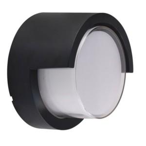 Απλίκα LED Στεγανή IP65 Πλαστική Στρογγυλή 12W 600 lms Μαύρη 4000K Ουδέτερο Λευκό V-Tac 8538