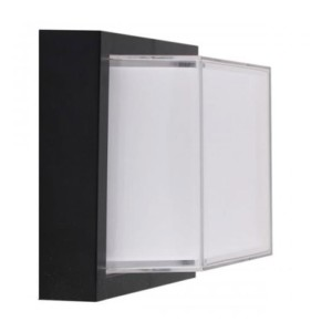 Απλίκα LED Στεγανή IP65 Πλαστική Τετράγωνη 12W 900 lms Μαύρη 3000K Θερμό Λευκό V-Tac 8543