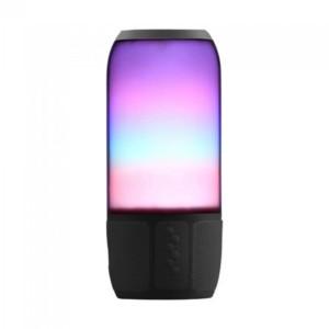 Ασύρματο Ηχείο LED με Bluetooth 2x3W V-Tac 8569 Μαύρο για USB και SD Κάρτα