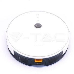 Smart Ηλεκτρική Σκούπα Ρομπότ Gyro Robotic συμβατή με Amazon Alexa και Google Home Λευκή V-Tac 8649
