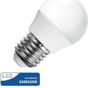 LED Σφαιρική Samsung Chip 7W E27 Θερμό Λευκό-3000K V-Tac 866