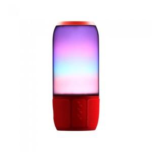 Ασύρματο Ηχείο LED με Bluetooth 2x3W V-Tac 8570 Κόκκινο για USB και SD Κάρτα