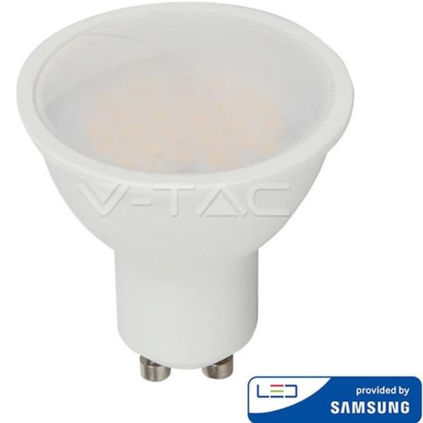 LED Πλαστικό Spot GU10 SMD 10W 110° 1000lm Samsung Chip Ψυχρό Λευκό-6400K V-Tac 880