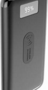 Powerbank 10000mAh Wireless με Οθόνη και 2 Θύρες USB Μαύρο Σώμα V-TAC 8855