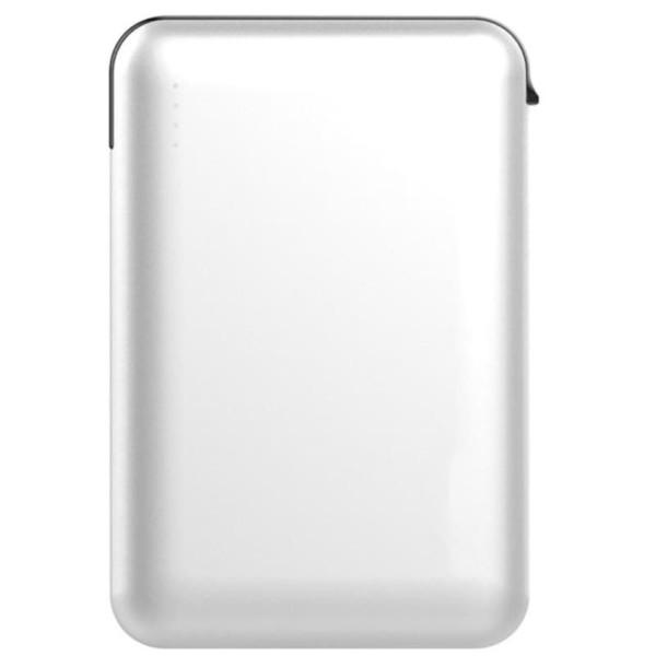 Super Small Powerbank 5000mAh Λευκό Με Ενσωματωμένο καλώδιο V-TAC 8864