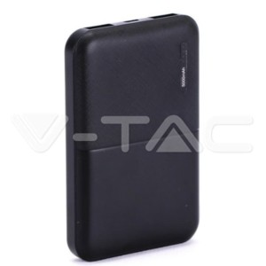Super Small Powerbank 5000mAh Μαύρο Micro USB V-TAC 8892