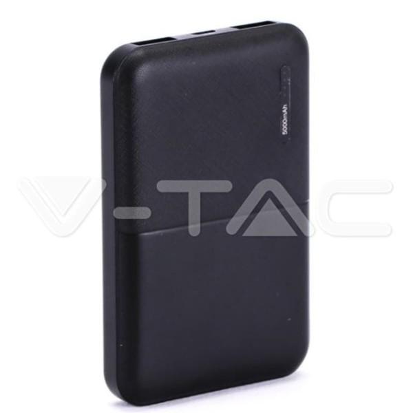 Super Small Powerbank 5000mAh Μαύρο Micro USB V-TAC 8892