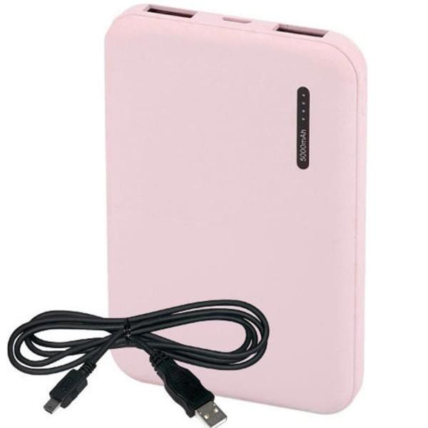 Super Small Powerbank 5000mAh Ροζ Micro USB V-TAC 8895
