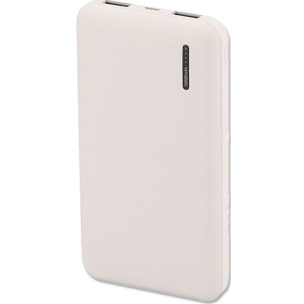 Super Slim Powerbank 10000mAh Λευκό Micro 2 Θύρες USB V-TAC 8898