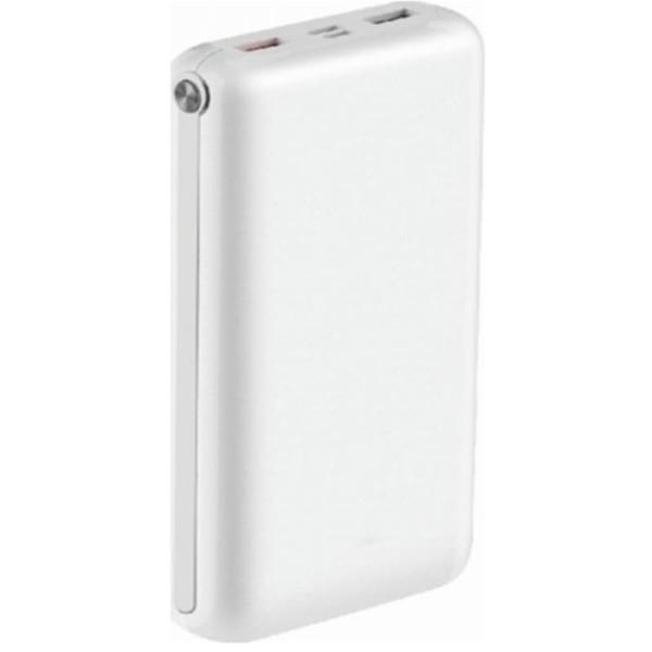 Jumbo Powerbank 30000mAh Micro USB/Type C Λευκό Σώμα V-TAC 8902