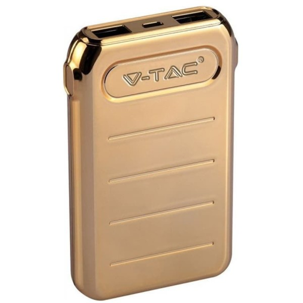 Powerbank 10000mAh Micro USB/Type C Χρυσό Σώμα V-TAC 8907